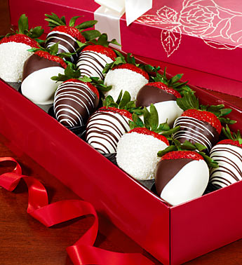 Strawberries Dipped In Chocolate Send To Europe