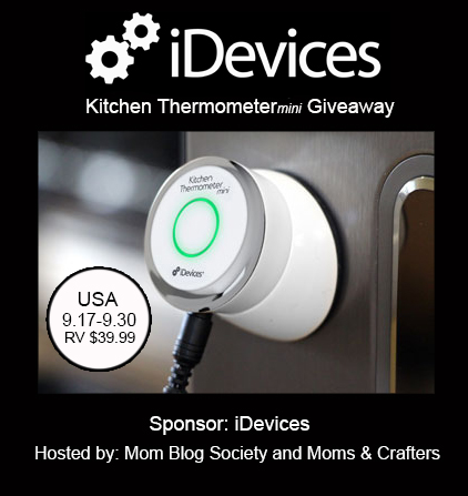 iDevices Kitchen Thermometer Mini giveaway