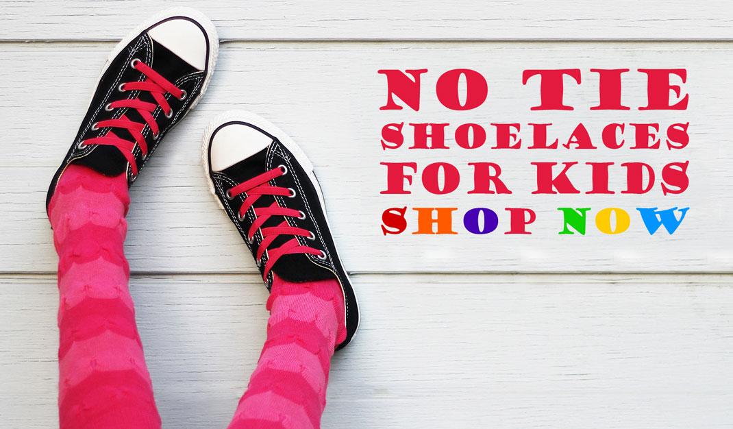 No Tie Laces For Kids School Shoes