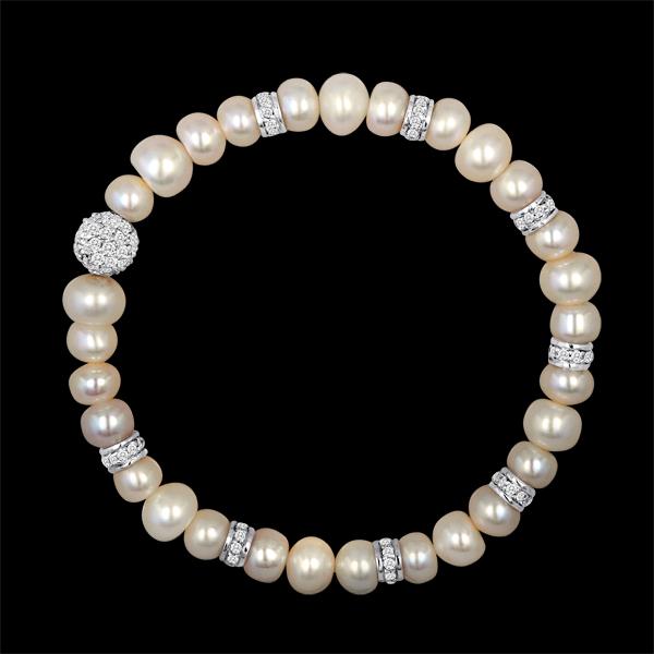 pearl rondel bracelet