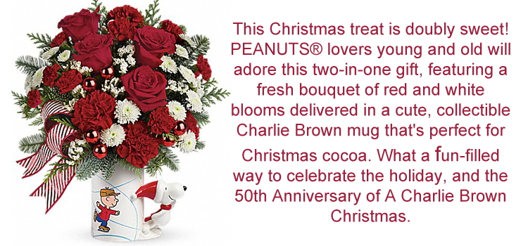 Happy Holiday's From Teleflora.com! #PEANUTS® Christmas Mug - Mom ...