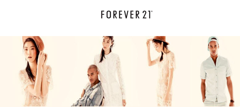 About Forever 21 Canada Forever 21 is an international clothing retail chain based in the United States, featuring apparel, shoes and accessories for men and women that is targeted towards youth. Consumers view the retailer positively for its designs, quality of products and affordability.