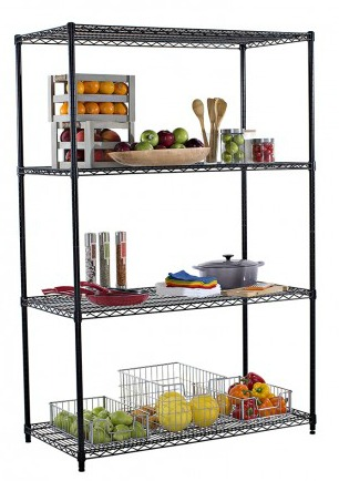 TRINITY 4-Tier Wire Shelving Rack
