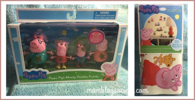 peppa pig muddy family-decals