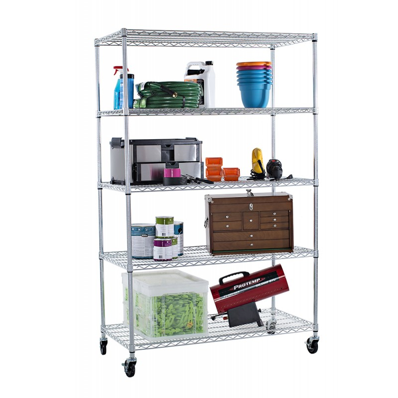 trinity ecostorage 5 tier wire shelving rack keeping my. Black Bedroom Furniture Sets. Home Design Ideas