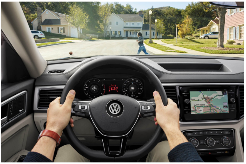 vw pedestrian assist monitor