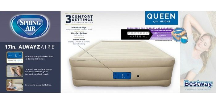 Fortech Airbed (Queen) with an AlwayzAire Pump from Bestway!I Can't Believe It's Not Serta!