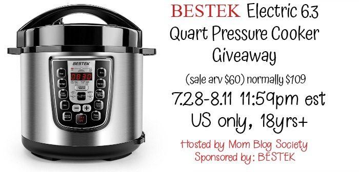 BESTEK Pressure Cooker Giveaway