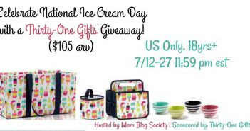Celebrate National Ice Cream Day with a Thirty-One Gifts Giveaway! ($105 arv)