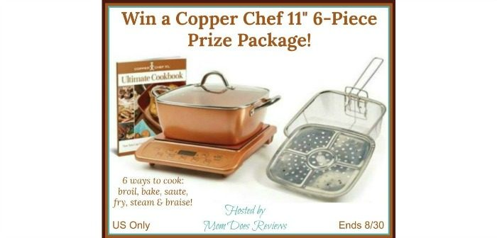 """Copper Chef 11"""" 6-Piece Prize Package"""