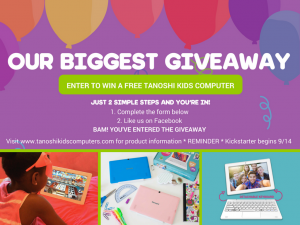 The Tanoshi 2 in 1 for Kids! A Tablet and Laptop in One Plus Enter Their Giveaway!