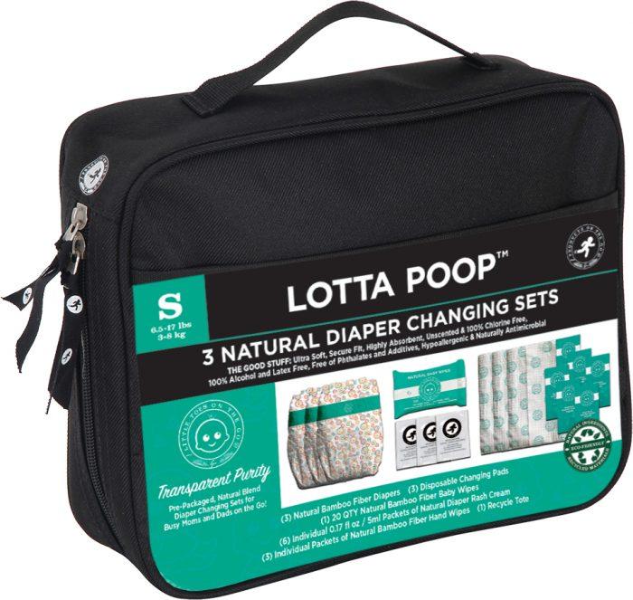LOTTAPOOP Bag 3 Diaper Set