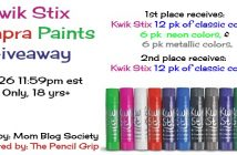 Kwik Stix Giveaway Tempra Paints