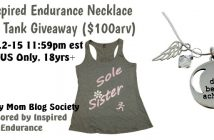 Inspired Endurance Necklace and Tank Giveaway ($100arv)