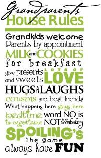 WiseDecor Grandparents House Rules Decal - Mom Blog Society