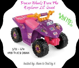 Dora Power Wheels Giveaway