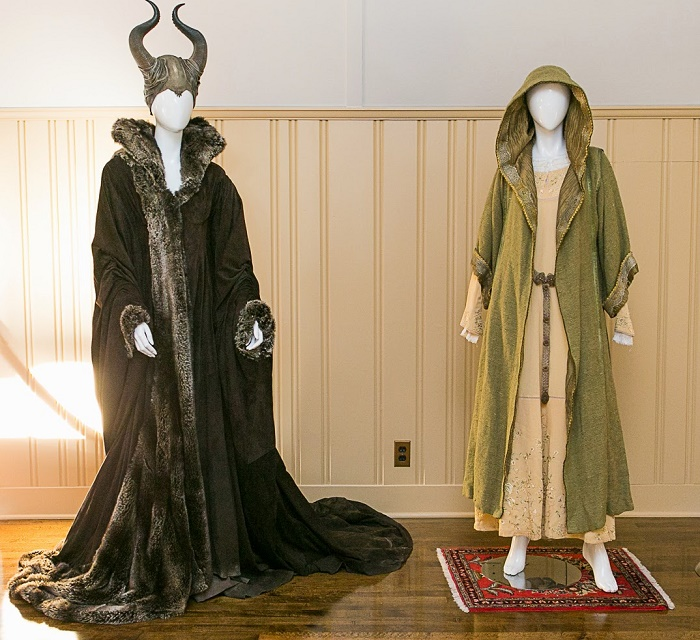 costumes worn by Angelina Jolie and Elle Fanning in Maleficent!