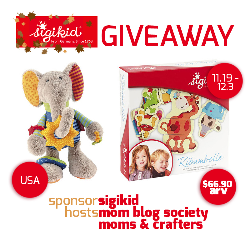 sigikid Toys Giveaway