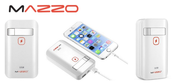 MAZZO PowerDrive: Portable USB Drive Plus Charger for iOS!