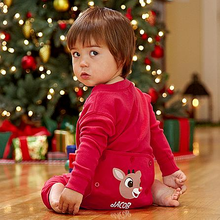 creations personal personalized johns christmas pajamas rudolph gifts character needs premium personalcreations cute characters holiday baby children received mom them