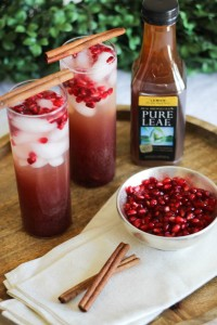 Lemon-Ginger Tea Pomegranate Sparkler