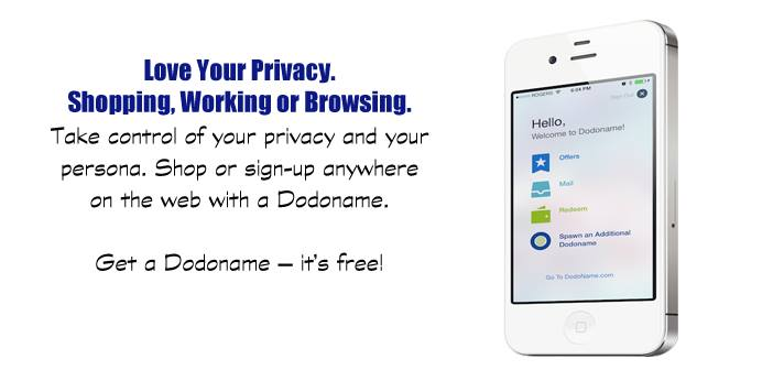 Dodoname iOS App ~ Keep Your Personal Information … Personal