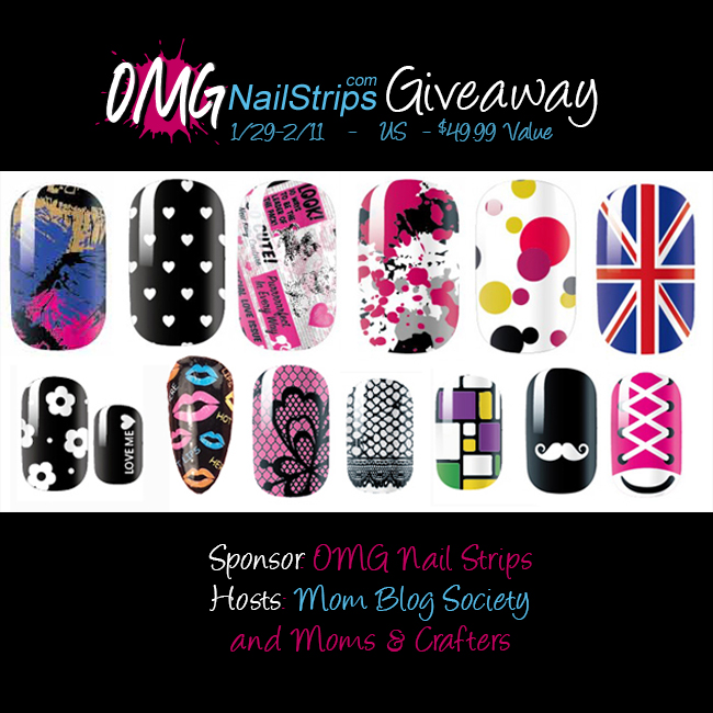 omg nail strips giveaway