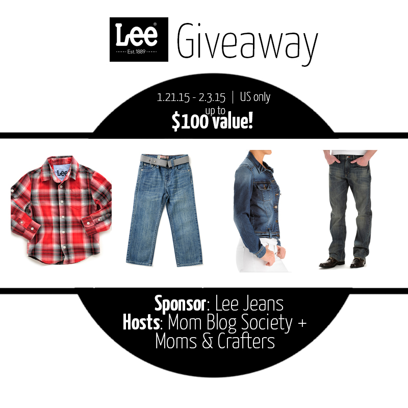 enter to win the Lee Jeans giveaway on Mom Blog Society