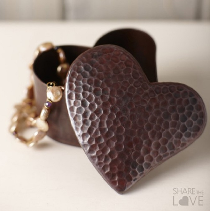 NT Copper Heart Box
