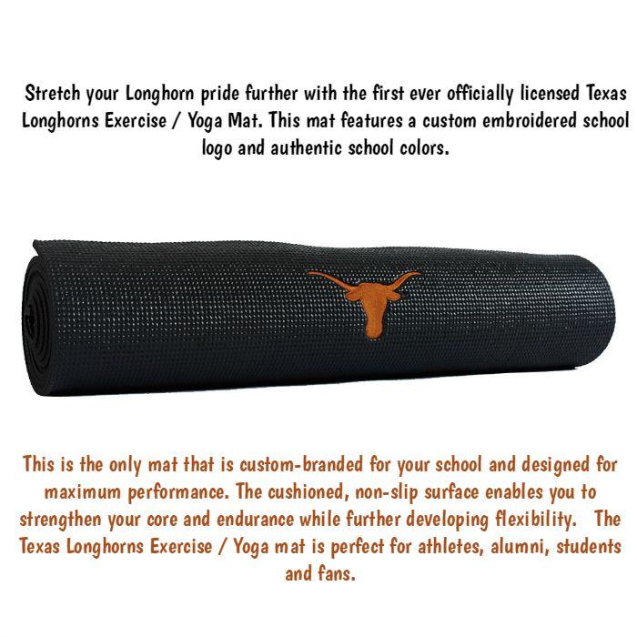 texas longhorns yoga mat