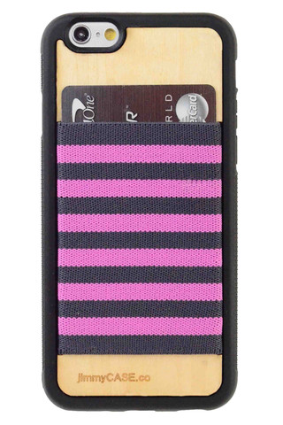 Custom_iPhone_6_wallet_case_by_jimmyCASE_Blonde_Wood_Black_Bumper_large
