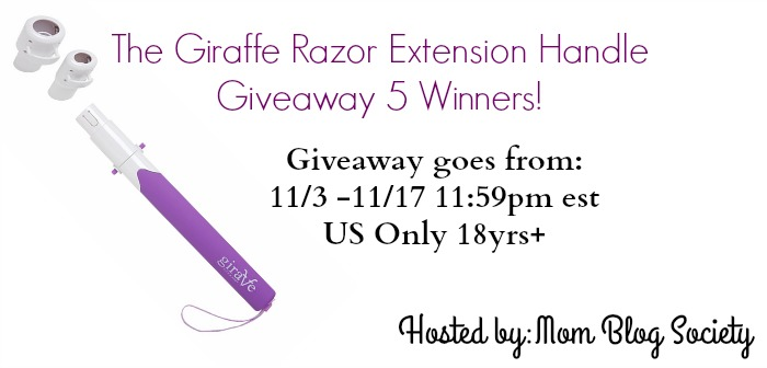 giraffe razor extension handle giveaway