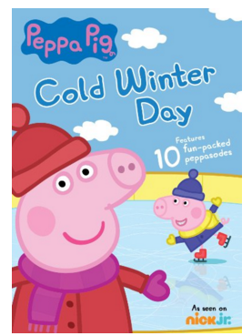 peppa pig cold winters day dvd