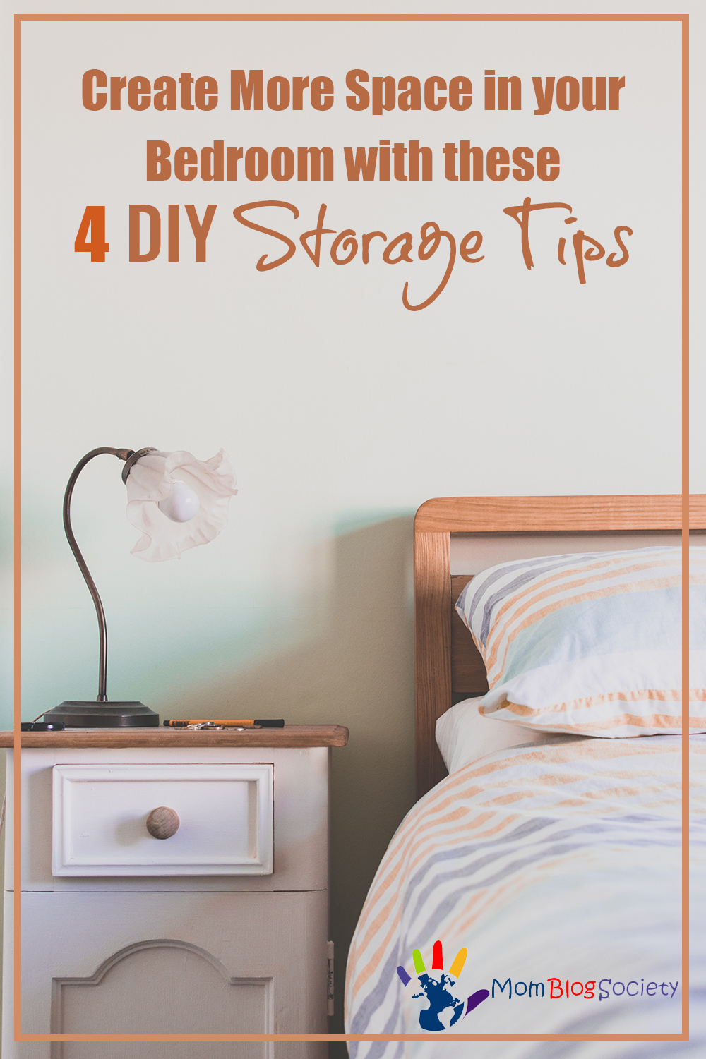 Create More Space in your Bedroom with these 4 DIY Storage Tips