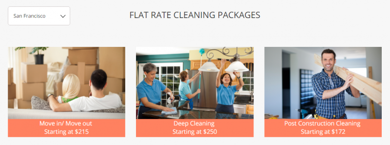 cleanify flat rate packages