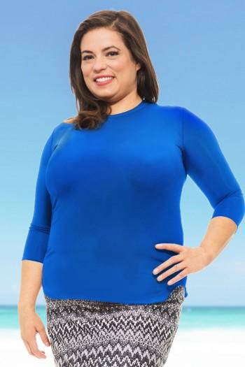 Undercover Waterwear royal blue 3 quarter shirt