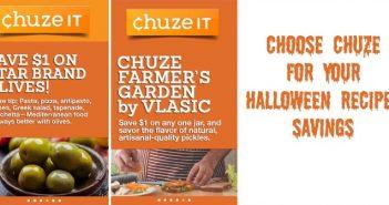 Choose Chuze for Your Halloween Recipes Savings
