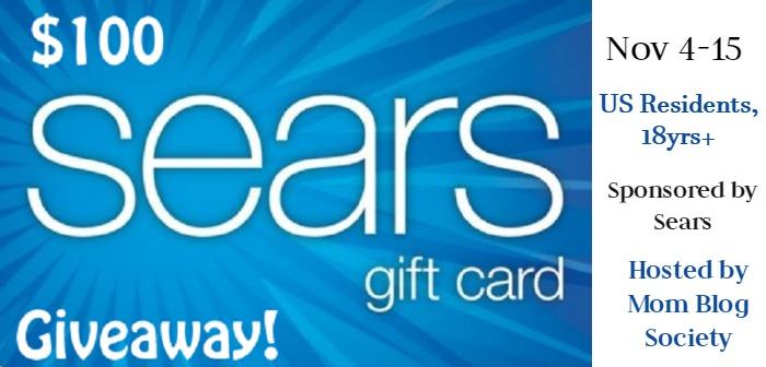 $100 Sears Gift Card Giveaway (ends 11/15)