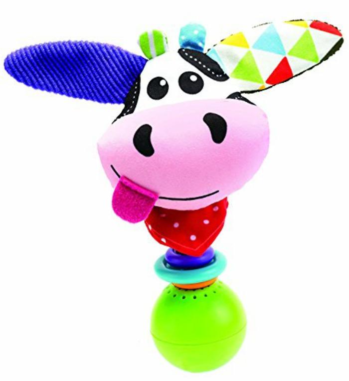 """Cow """"Shake Me"""" Rattle by Yookidoo"""