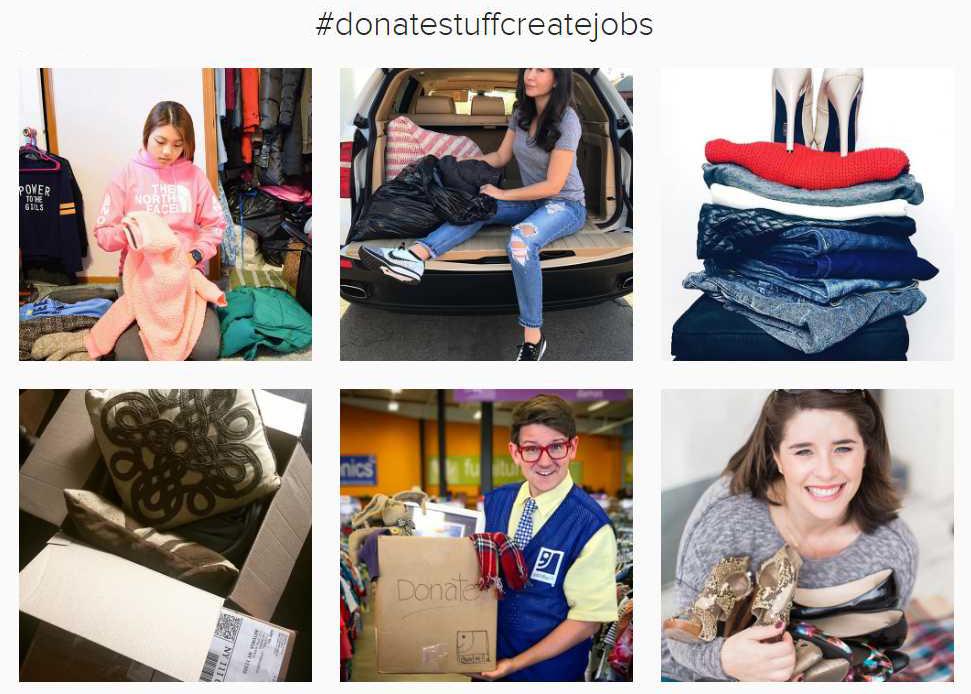#donatestuffcreatejobs
