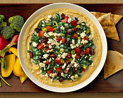 Creamed Spinach Hummus Dip