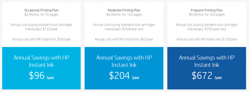 HP's Instant Ink