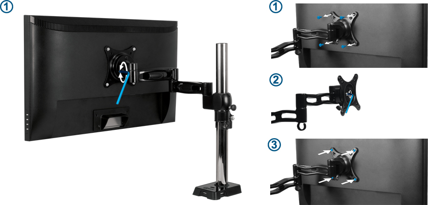 Arctic Z1 Monitor Arm with 4-Port USB Hub, a great tool for