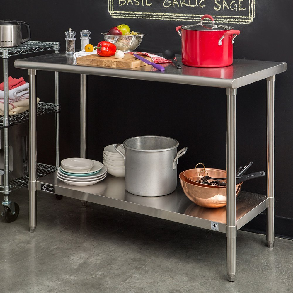 TRINITY EcoStorage Stainless Steel Table Mom Blog Society - Restaurant prep table cutting boards
