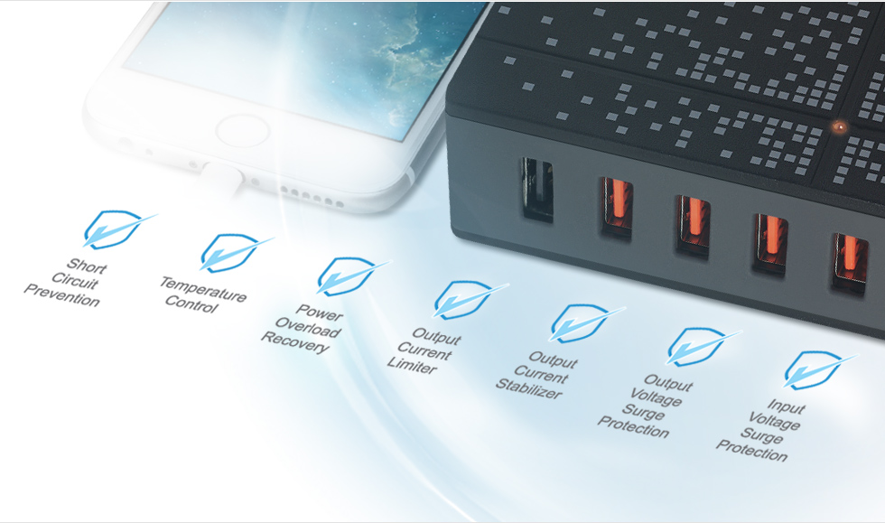 The ARCTIC Global Charger 8000 USB Travel Charger With Quick Charge 2.0.