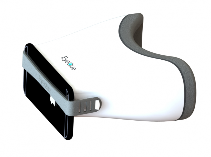 The EyeQue Insight with phone