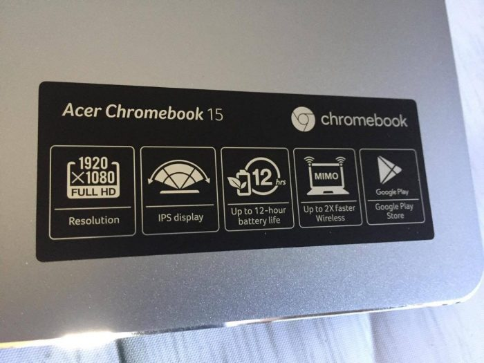 """Light and Stylish with a 15.6"""" Screen the Acer Chromebook 15"""