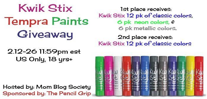 Kwik Stix Giveaway Tempra Paints
