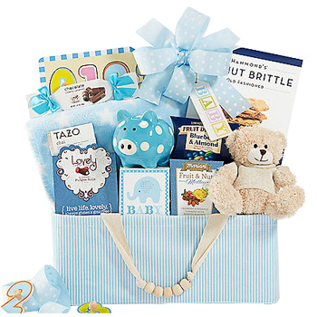 Baby Boy/'s Blanket Wrap  soft warm chunky blue gift present in box bears playing