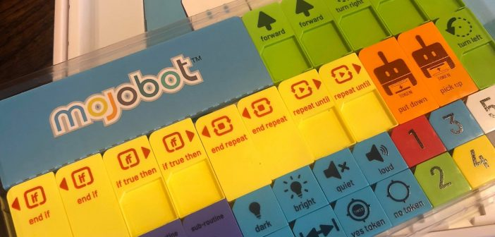 Mojobot is a robot and board game that makes it easy for kids and adults alike to pick up and learn the core principles of coding and robotics.
